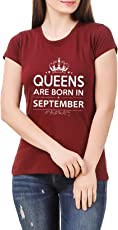 Hashtag Birthday Gifting Queens T-Shirt for Women - Queens are Born in September