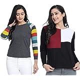 JUNEBERRY Women's Cotton Regular Fit T-Shirt-Pack of 2