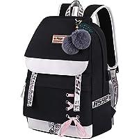Asge Girls Backpack School Bags for Girls Nylon Waterproof College Rucksack Fashion Casual Daypack Women Bookbag Boys…