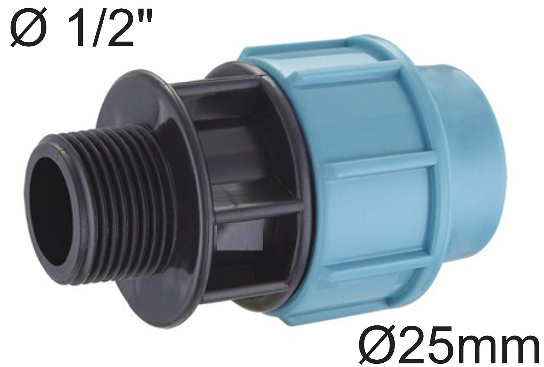 Relativ T-Stück 32 mm auf 25 mm für PE - Rohr -- PP Verschraubung Fitting  YN69