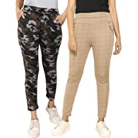 DTR FASHION Women's Slim Fit Track Pant (Pack of 2)