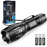 LETION UV-zaklamp LED-zaklamp 2-in-1 zwart licht met 4 modi IPX4 waterdicht 395nm UV-licht Superhelder 500lm voor inspectie H