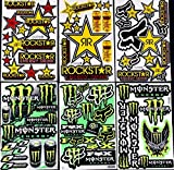 6 bogen Aufkleber n-Zb selbstklebend Stickers rockstar energy drink BMX moto-cross decals Abziehbilder MX
