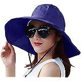 FengDing Cappello da Sole Anti UV, Cappello Parasole Floscio da Donna, Cappello da Spiaggia da Viaggio Pieghevole, Cappello A