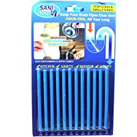 Easy Flow Drain Sticks Pack of 2 Cleaner to Provent Blockage Total-24Pcs Clogs and Bad Odours Hair Citrus Unblocker for…