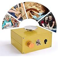 InLoveArts Ricaricabile Mini Tornio per Ceramica Attrezzo di Modellatura dell'argilla di Lavoro per Bambini e…