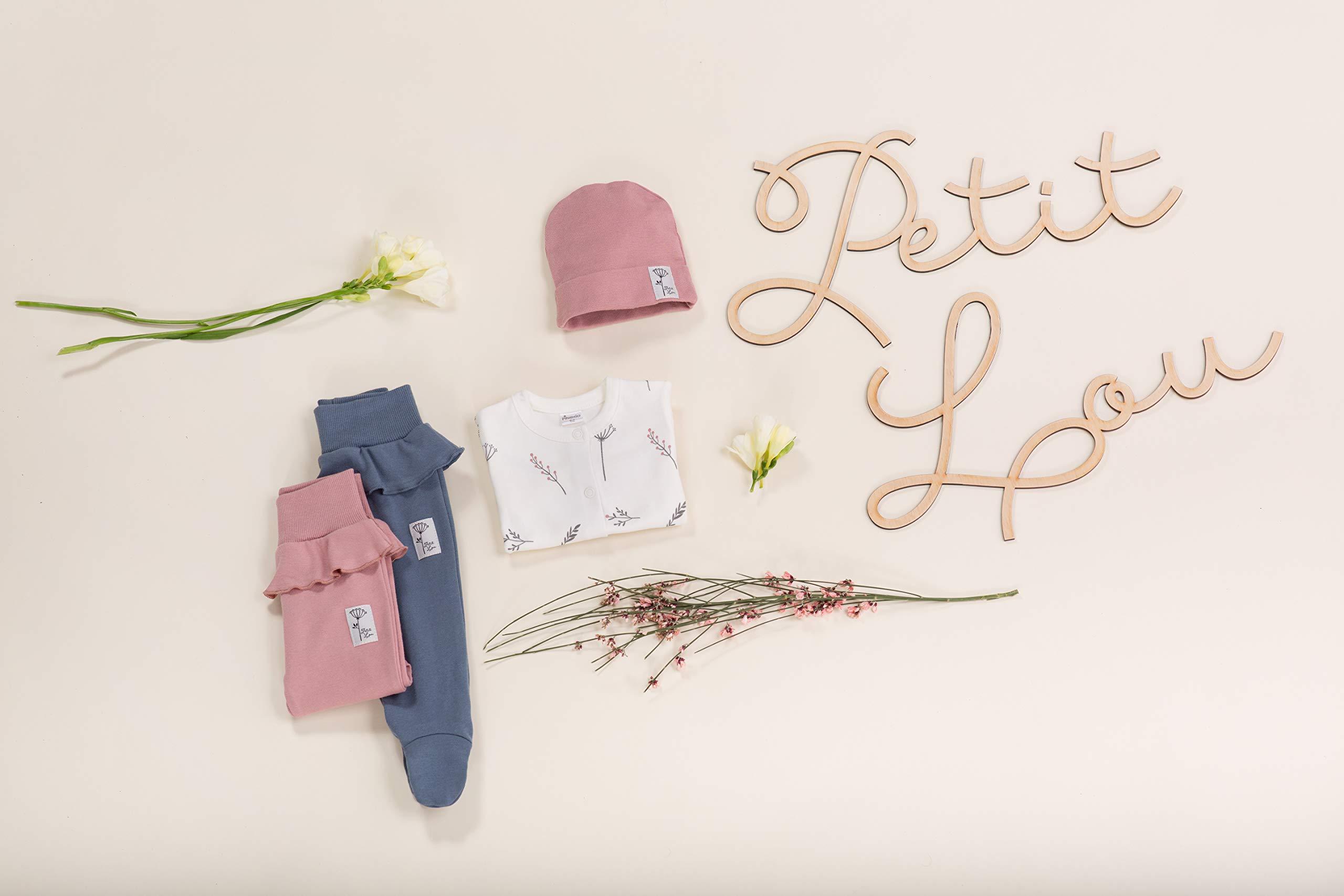 Pinokio - Petit Lou - Pantalones de Bebé Niñas/Pantalón de Mameluco recién Nacido - Azul Rosa- 100% Algodón durmientes… 3