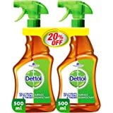 Dettol Anti-Bacterial Surface Disinfectant Brown Liquid Trigger - Pack of 2 Pieces (2 x 500ml)