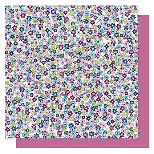 RAYHER–71928000–Origami Papier mit Blumenmuster 65Stück FSC Mix Credit, 10x 10cm, blau Töne