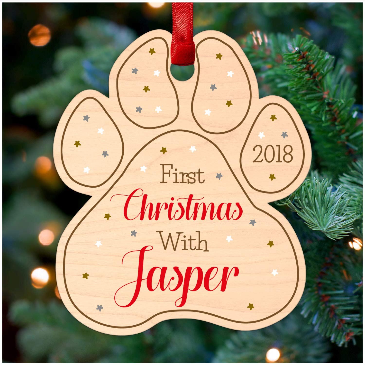 Dogs First Christmas Ornament.Dogs First Christmas Ornament