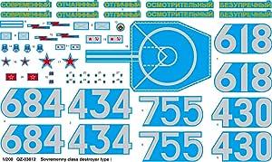 Neu Trumpeter 03612-1:200 Zerstörer Sowriemiennyj-Klassse 956