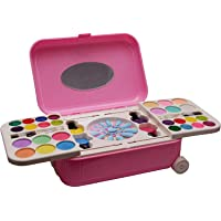 NIYAMAT® Makeup Kit for Girls All-in-One Trolley Type Water Removable Real Cosmetics (Non-Toxic & Not Tested on Animals…