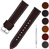 Fullmosa 6 Colori per Cinturino di Ricambio, Wax Pelle Cinturino con Quick Release Pin 14mm 16mm 18mm 20mm 22mm 24mm