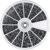 600 stks RVS Schroeven en Moeren-Samfox 12 soorten Mini Schroef Set M1 M1.2 M1.4 M1.6 Schroef en Moer Combinatieset Kleine Me