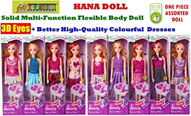 Toy-Station - Fashion HANA Doll with 3D Eyes & Made to Move Hands (HANA Fashion Doll with 3 D Eyes & Made to Move Hands)