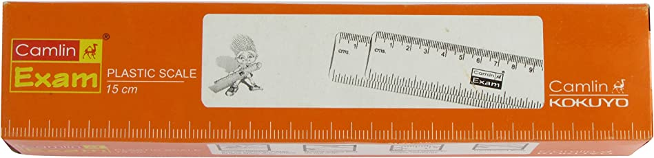 Camlin Kokuyo Exam Standard Scale - 15cm, Pack of 10