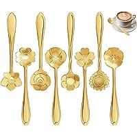 FANSEZQ Ensemble de cuillères à Fleurs 8 Formes cuillère à café en Acier Inoxydable cuillère à café Vaisselle créative…
