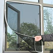 Indoor Insect Fly Screen Curtain Mesh Bug Mosquito Netting Door Window Grey
