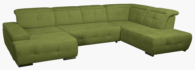 MISTREL Wohnlandschaft mit Bettfunktion in U-Form Sofa mit Schlaffunktion