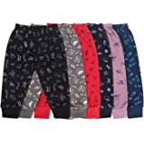 Superminis Unisex Dark Colors Cotton Printed Pyjama/Legging Bottom/Lowers for Toddlers/Kids, Multicolor (12-18 Months, Pack o