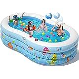 Peradix Piscina Gonfiabileo, 240 * 150 * 60 cm 3 Strati Addensati Grande Piscine d'Acqua per Bambini, Fuori Giardino Piscina