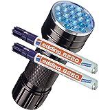 Edding 8280 - Rotulador especial Securitas UV de luz ultravioleta, 1,5 - 3 mm, transparente, UV Marker + UV Lampe, 2 unidades