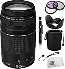 Canon Zoom Telephoto EF 75-300mm f/4.0-5.6 III Autofocus Lens + SSE Accessory Kit