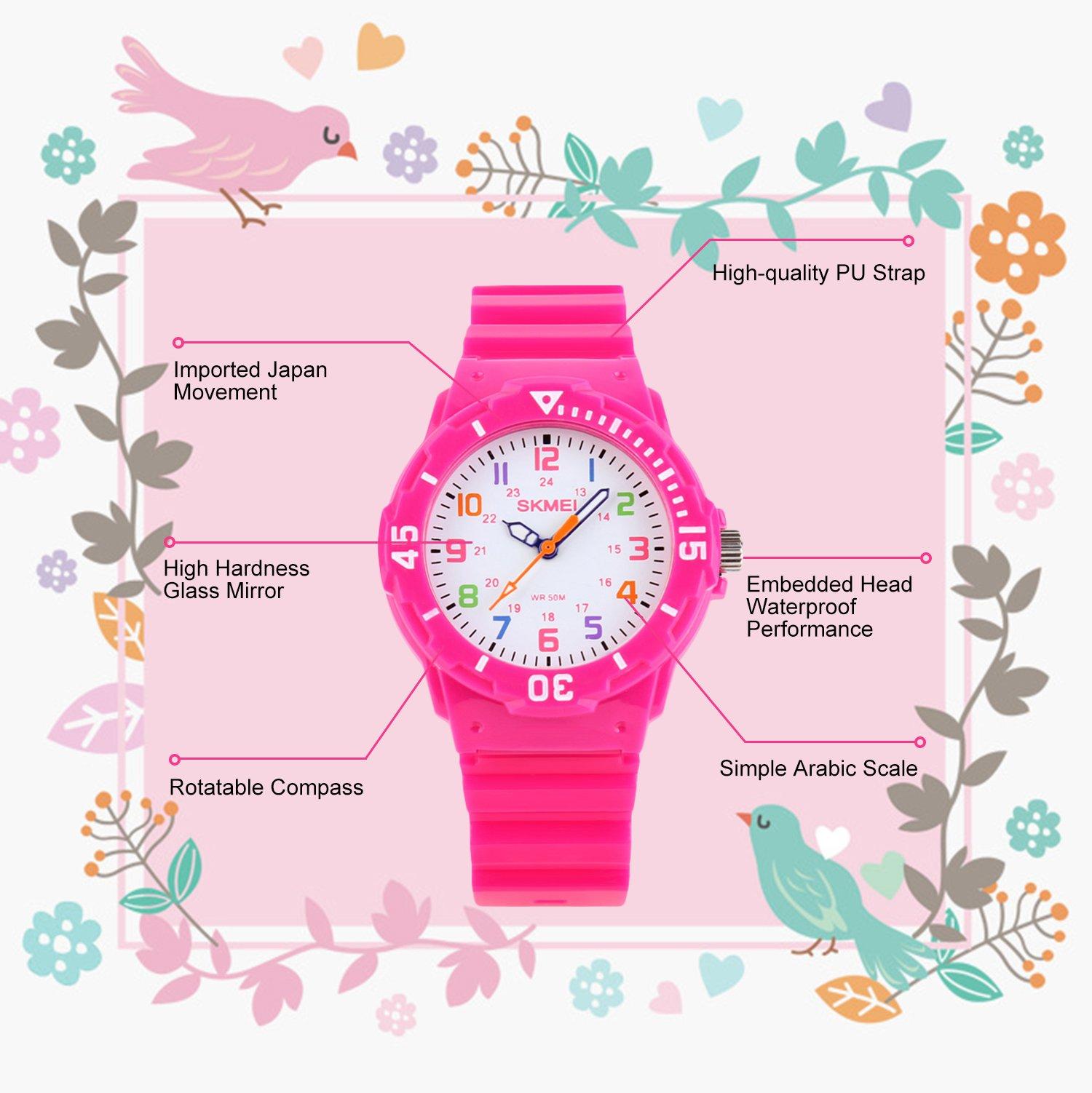 a68f6bc18966 Relojes de Pulsera de Cuarzo analógicos para niños con Resistencia ...