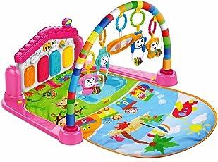SILUK 3-in-1-Spielmatte für Babys mit Baby-Klavier, Spielmöglichkeiten, Musik und Beleuchtung Piano