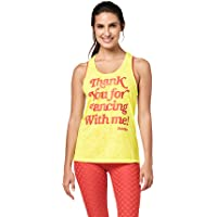 Zumba Women's Burnout Dance Gym Tank Graphic Print Fitness Workout Tops