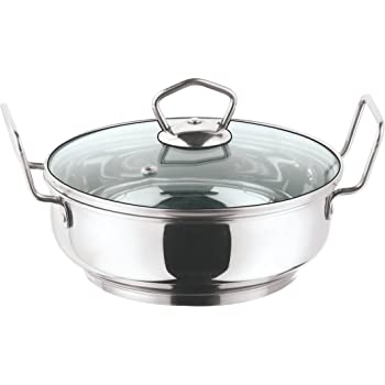 Vinod Cookware Induction friendly Kadai with Lid, 1.5 Litres