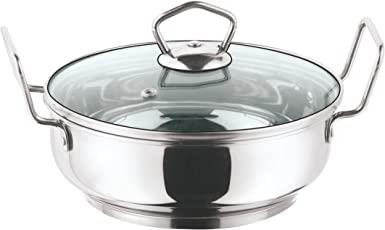 Vinod Cookware Induction friendly Kadai with Lid, 2 Litres