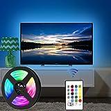USB Tira Led para TV con una longitud de 2.5 metros. P24 teclas con control remoto por infrarrojos para controlar la tira LED