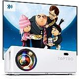 Proiettore Bluetooth TOPTRO Videoproiettore 7200 Lumen Full HD 1080P Nativo Supporta 4K Zoom Correzione Trapezoidale ± 50 °4D