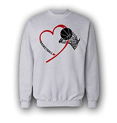 Mens i love basketball heart art sweatshirt amazon clothing sciox Gallery