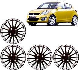 Auto Pearl Full Wheel Cover Cap for Maruti Suzuki Swift New (Black)