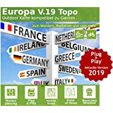 Europa V.19 - Profi Outdoor Topo Karte - Topografische Europakarte kompatibel zu Garmin Navigation - Zum Wandern, Geocachen, Bergsteigen, Radfahren, Radtour