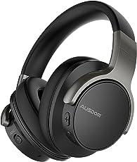 AUSDOM ANC8 Active Noise Cancelling Kopfhörer, Bluetooth Kopfhörer, Noise Cancelling Kopfhoerer mit Super HiFi, Faltbare Bluetooth Kopfhoerer, Komfortabler Ohrpolster, Integiertes Mikrofon, 20 Stunden Spielzeit