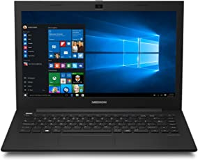Medion S4219 35,5 cm (14 Zoll Full HD) Notebook (Intel Celeron N3160, 4GB RAM, 64GB Flash-Speicher, Intel HD-Grafik, Win 10 Home)