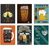 Whisky Painting/Posters for Room Decoration, Set of 6 Art Prints/Posters for Bar by Painting Mantra (6 Unit, 12 x 16 Inches)
