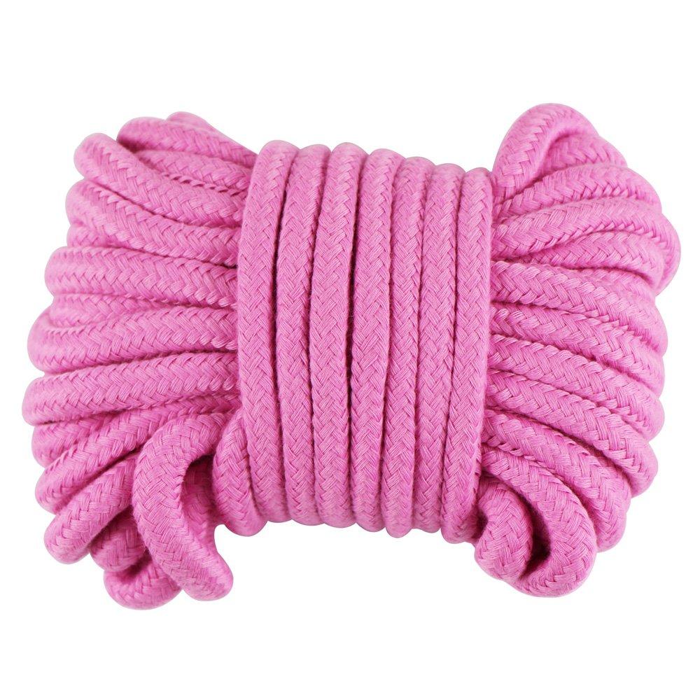 edgeam cordicella 8mm 10m intrecciato corda di cotone Pink
