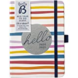 Busy B Mid-Year to Do Diary August 2020 - August 2021 - Stripe Week to View A6 Diary with Notes, Pen Holder and Tear-Out…