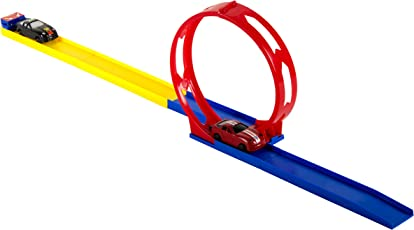 ToyRack 360 Degree Turn Race Track with Cars (38 cm x 20 cm x 5 cm)