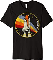 NASA Shuttle Launch Into Rainbow Premium Graphic T-Shirt