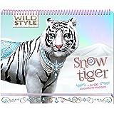 Wild Style - Carnet créatif - Snow tiger