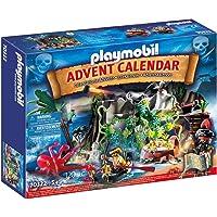 PLAYMOBIL Adventskalender 70322 Schatzsuche in der Piratenbucht mit zahlreichen Figuren, Tieren und Zubehörteilen hinter…