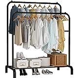 UDEAR Porte-vêtements, Porte-vêtements Multifonctionnel, Porte-Manteaux à Deux Pôles, Noir