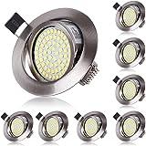 Spot LED Interieur Encastrable Blanc Froid 6000K Orientable 5W Extra Plat Rond 220V IP20 Éclairage Plafond Encastré pour Cuis