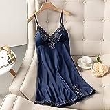 Women Sexy Nightdress With Suspenders Nightwear Lace Lingerie Sleepwear Dress With Chest Pads