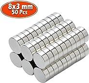 Yizhet neodymium magneten 10 x 2 mm 50 stuks mini magneten extreem sterk ca. 2 kilo hechtkracht